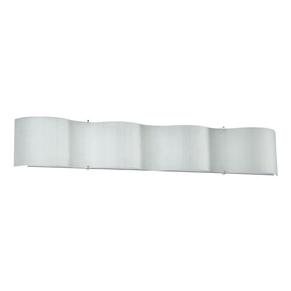 Filament Design Vane 4-Light Chrome Bath Vanity Light