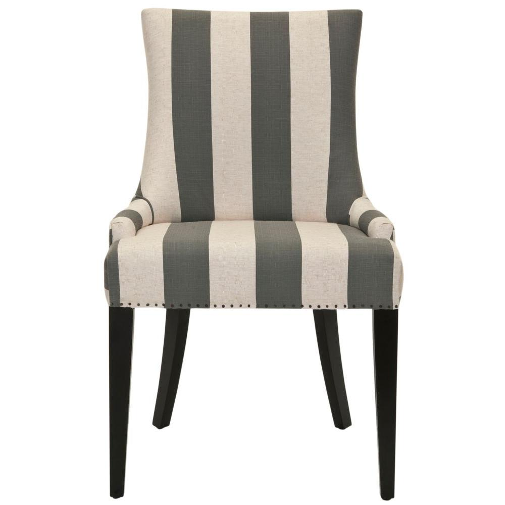 815e71421b8 Safavieh Becca Grey and Bone Linen Blend Dining Chair-MCR4502H - The ...