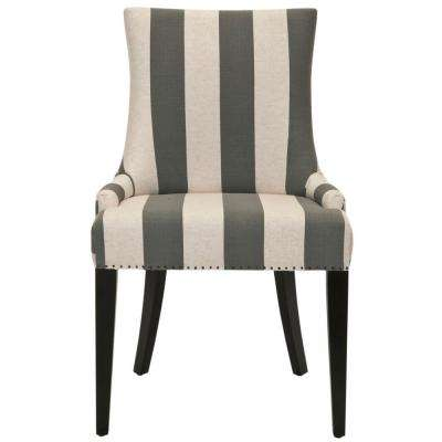 Becca Grey and Bone Linen Blend Dining Chair
