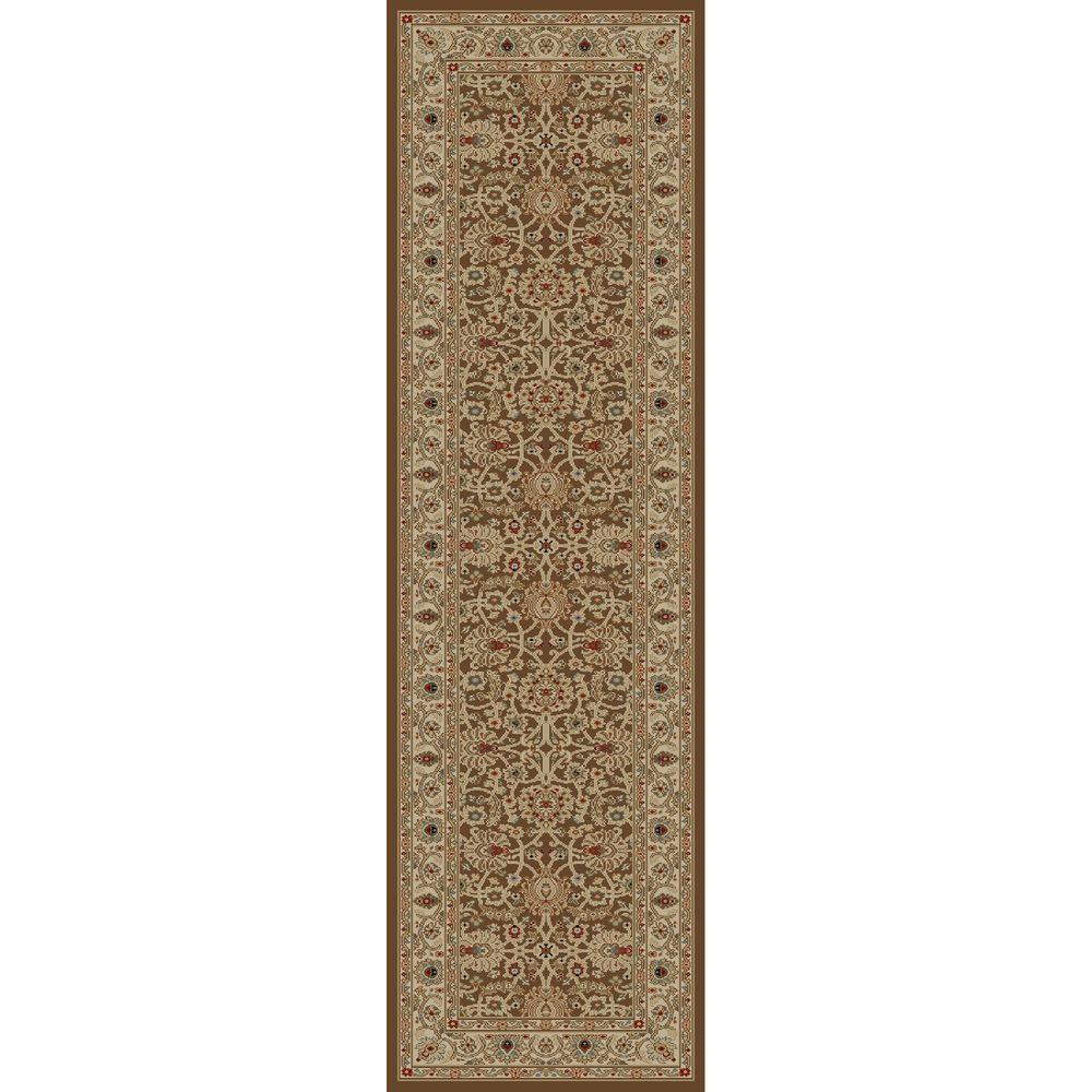 Concord Global Trading Ankara Mahal Brown 2 ft. 2 in. x 7 ft. 3 in. Rug Runner