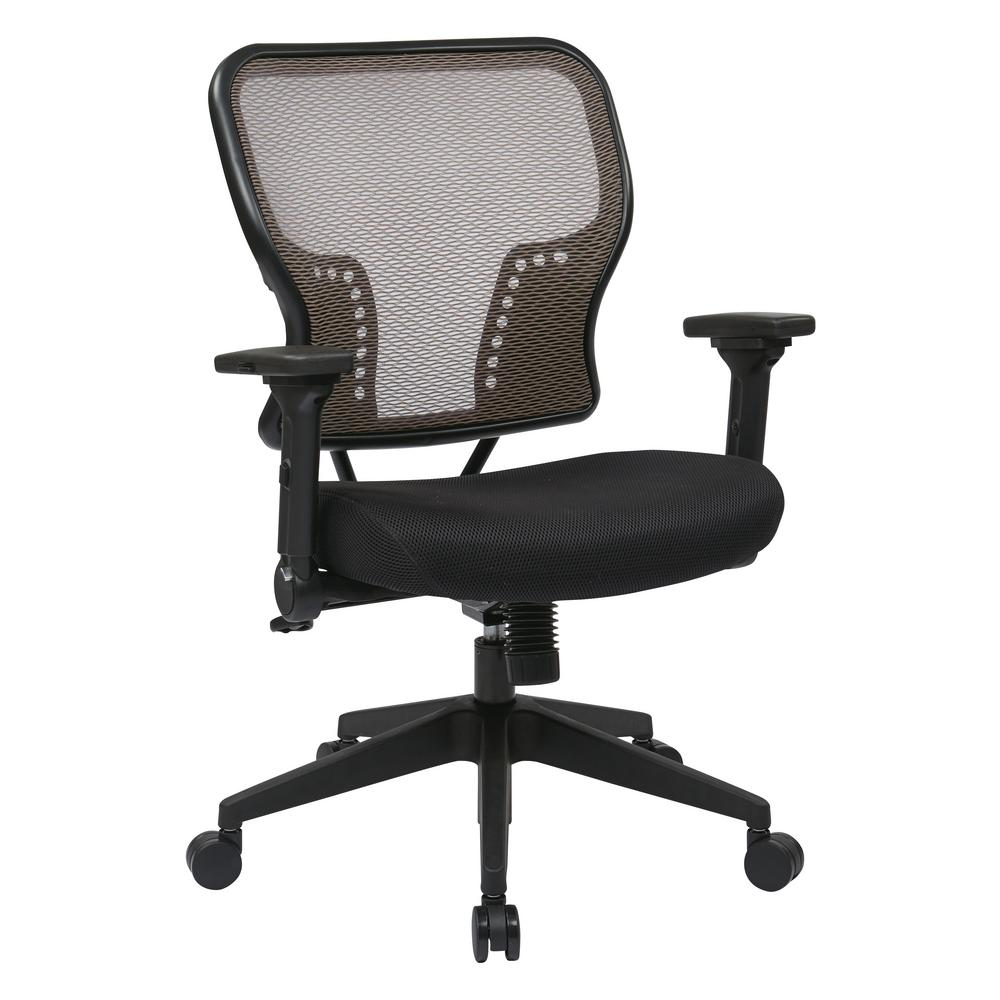 Bon Space Seating Latte Air Grid Latte Mesh Back And Padded Mesh Seat Chair