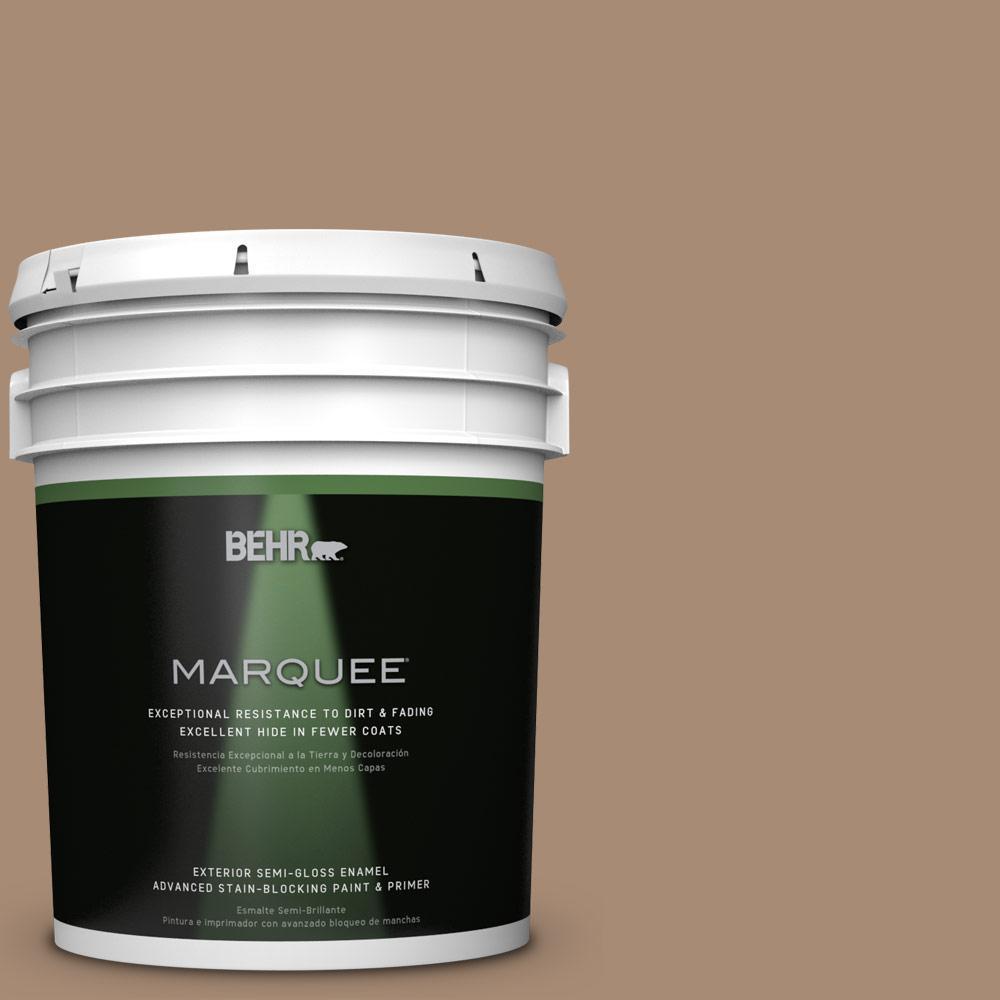 BEHR MARQUEE 5-gal. #N240-5 Rodeo Tan Semi-Gloss Enamel Exterior Paint