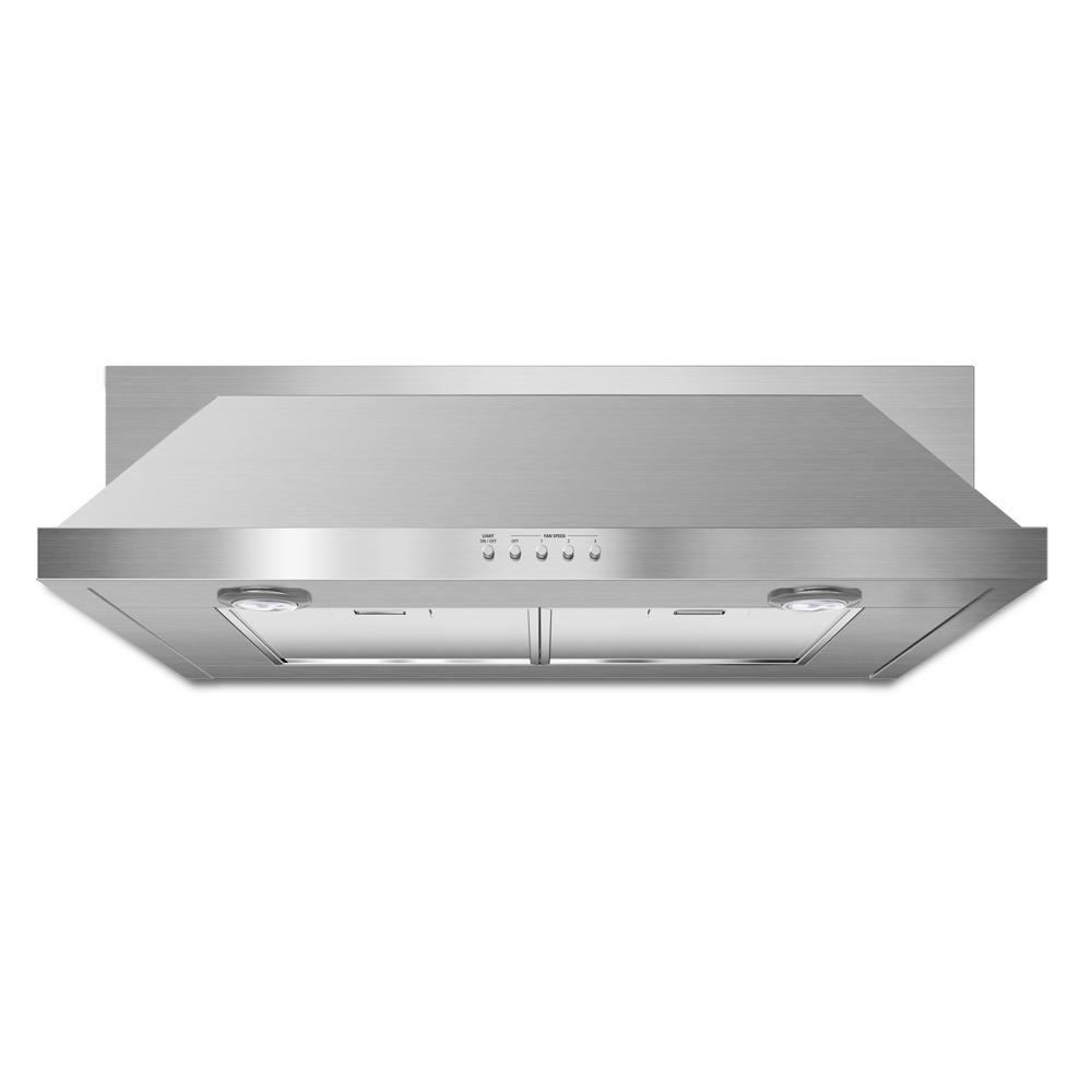 30 in. Convertible Under Cabinet Range Hood with Light in Stainless