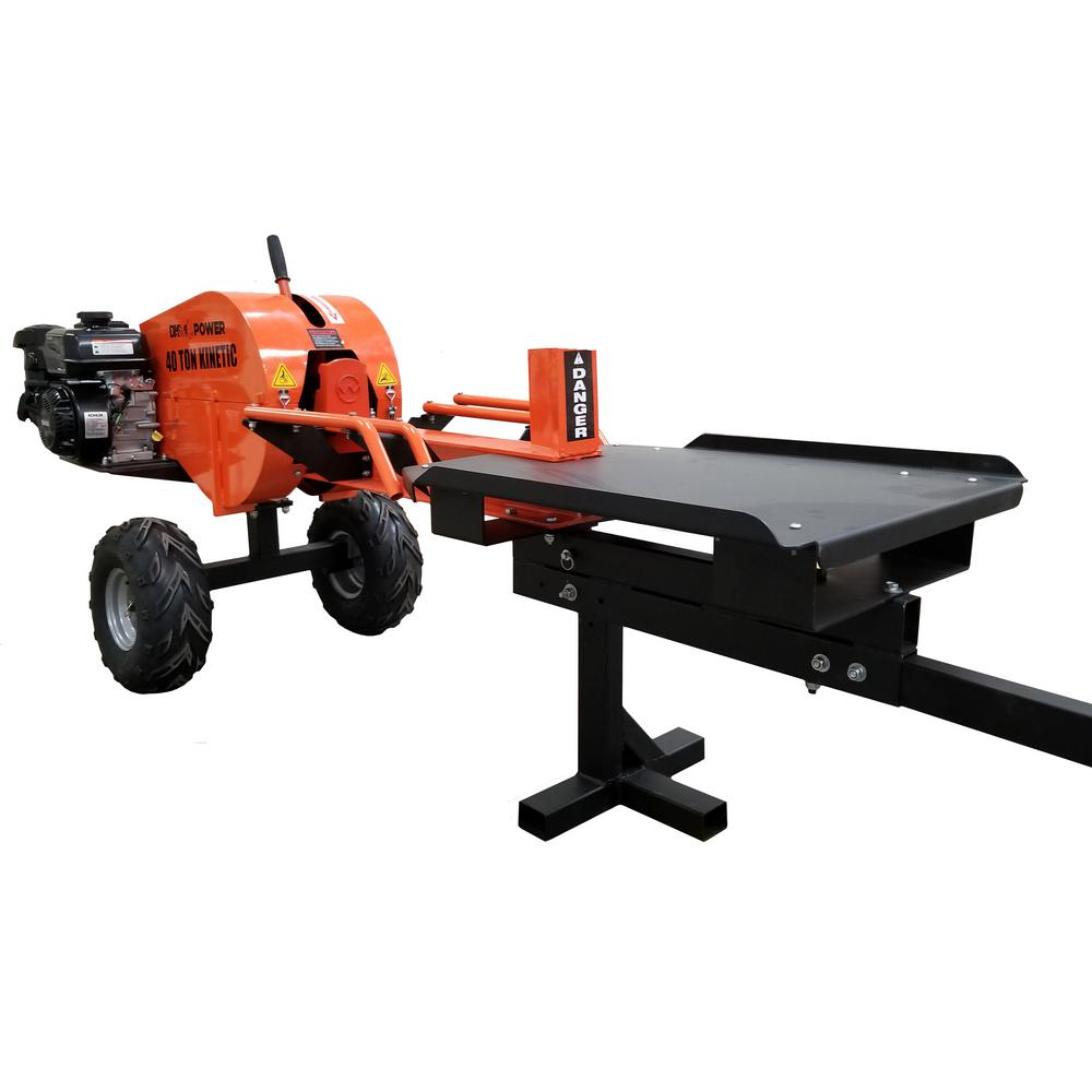 Detail K2 40-Ton 7 HP 208cc Certified Commercial Horizontal Kinetic Log Splitter with Kohler Engine & 1-Sec Cycle Time
