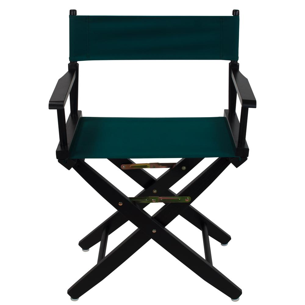 Extra-Wide 18 in. Black Frame/Hunter Green Canvas American Hardwood Directors