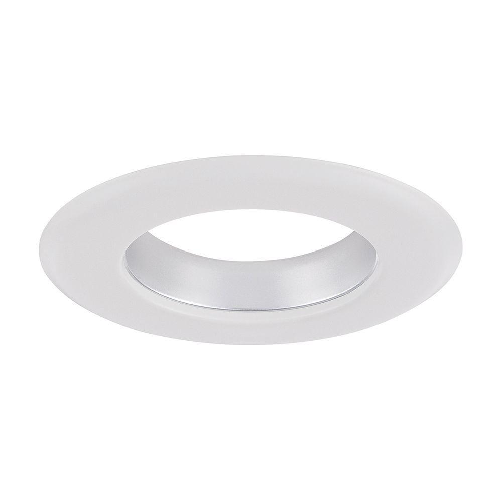 Envirolite 4 In Decorative Diffused Chrome Cone On White