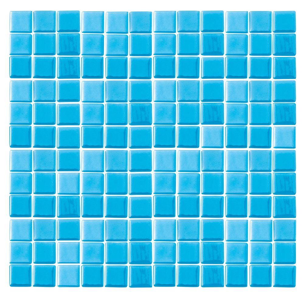 Epoch Architectural Surfaces Futurez Hendrix-3001 Glow In The Dark Mesh Mounted Floor & Wall Tile - 4 in. x 4 in. Tile Sample-DISCONTINUED