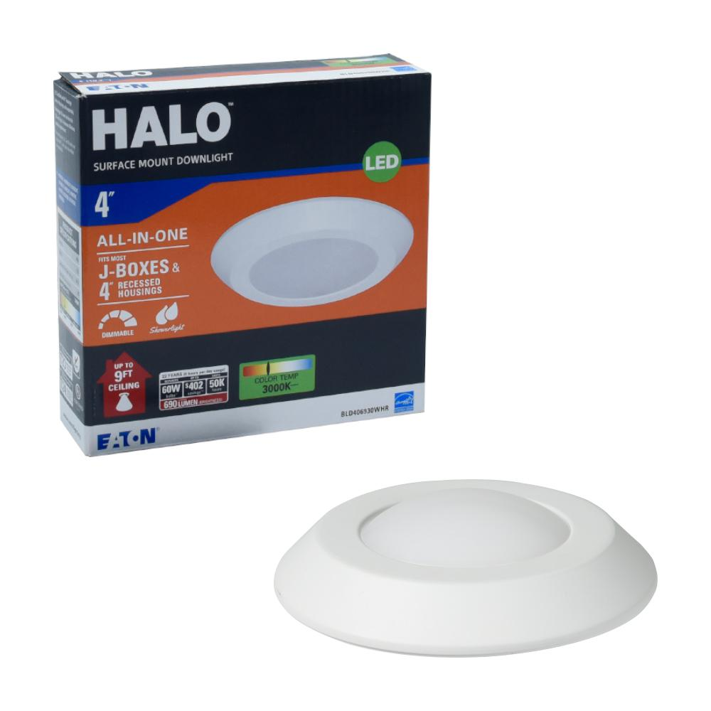 Halo Bld 4 In White Integrated Led Recessed Ceiling Mount Light Trim At 3000k Soft Le 20 Compliant
