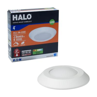 BLD 4 in. White Integrated LED Recessed Ceiling Mount Light Trim at 3000K Soft White