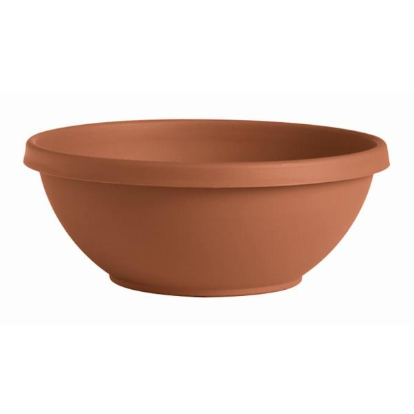 Terra Large 18 in. Terra Cotta Plastic Plant Bowl Planter