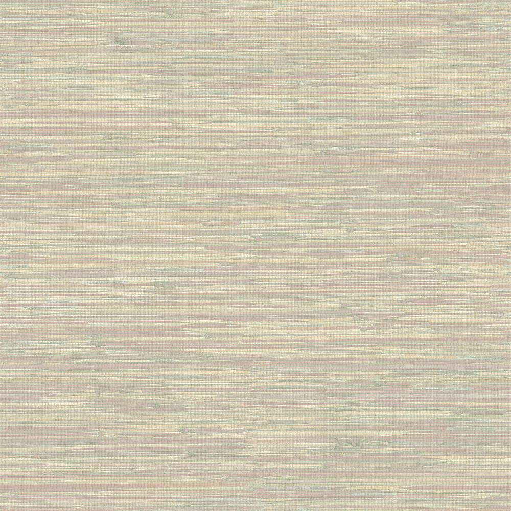 Printed Grasscloth Wallpaper: Brewster Natalie Gold Faux Grasscloth Wallpaper-2704