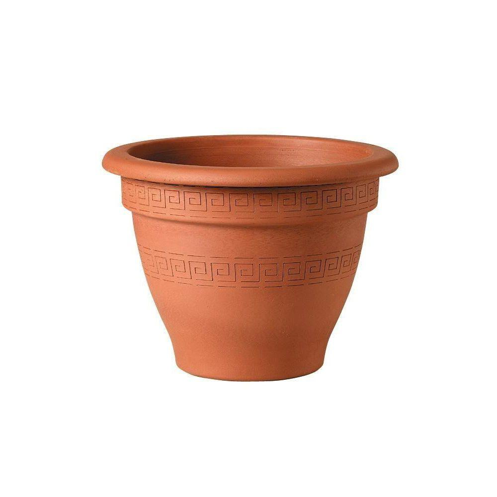 17 in. Terra Cotta Bell Clay Pot with Scallop