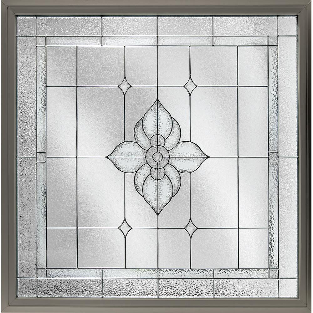 Hy-Lite 47.5 in. x 47.5 in. Decorative Glass Fixed Vinyl ...