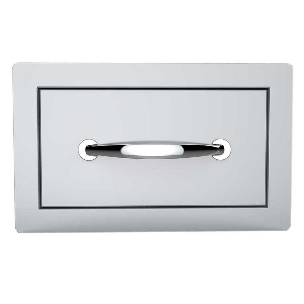 Classic Series 14 in. 304 Stainless Steel Flush Single Access Drawer