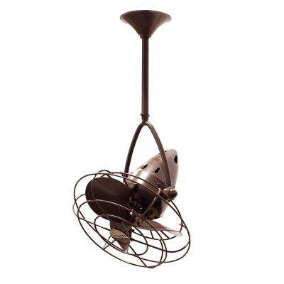 Jarold Direcional 13 in. Indoor/Outdoor Bronzette Ceiling Fan with Wall Control