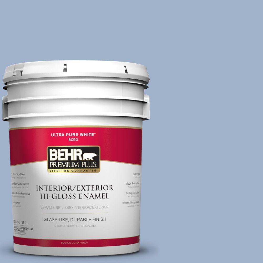 BEHR Premium Plus 5-gal. #S530-3 Aerial View Hi-Gloss Enamel Interior/Exterior Paint