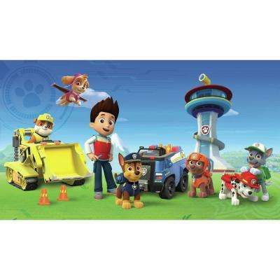 72 in. x 126 in. Paw Patrol XL Chair Rail Prepasted Wall Mural (7-Panel)