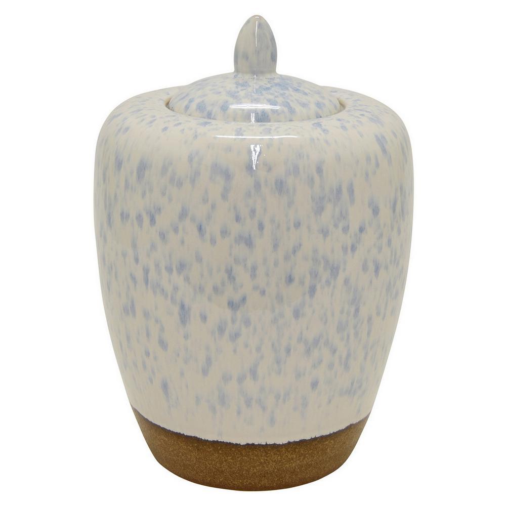 14 in. Ceramic Jar