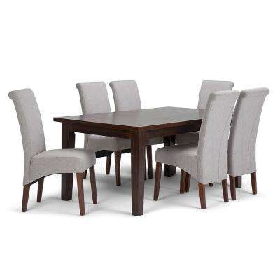 Avalon 7-Piece Cloud Grey Dining Set