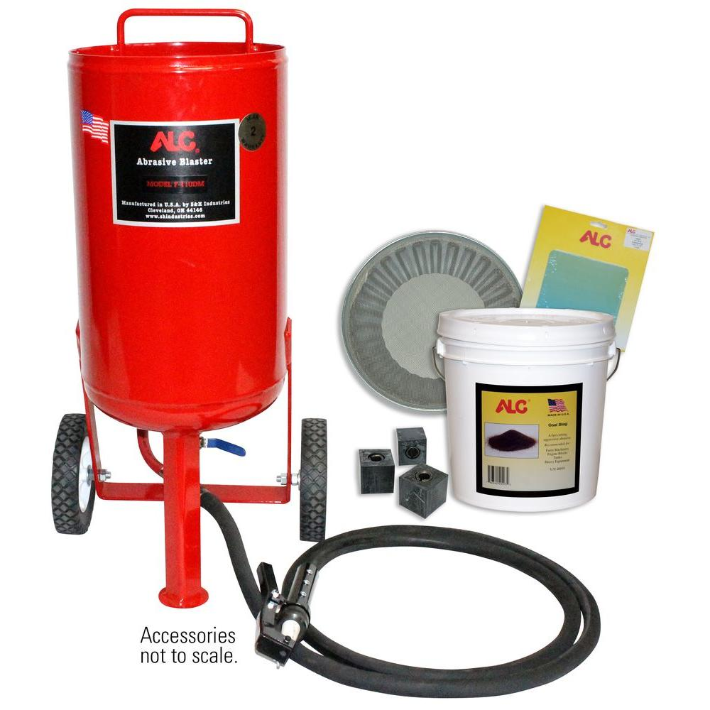 110 lb. Portable Pressure Abrasive Blaster with Starter Kit