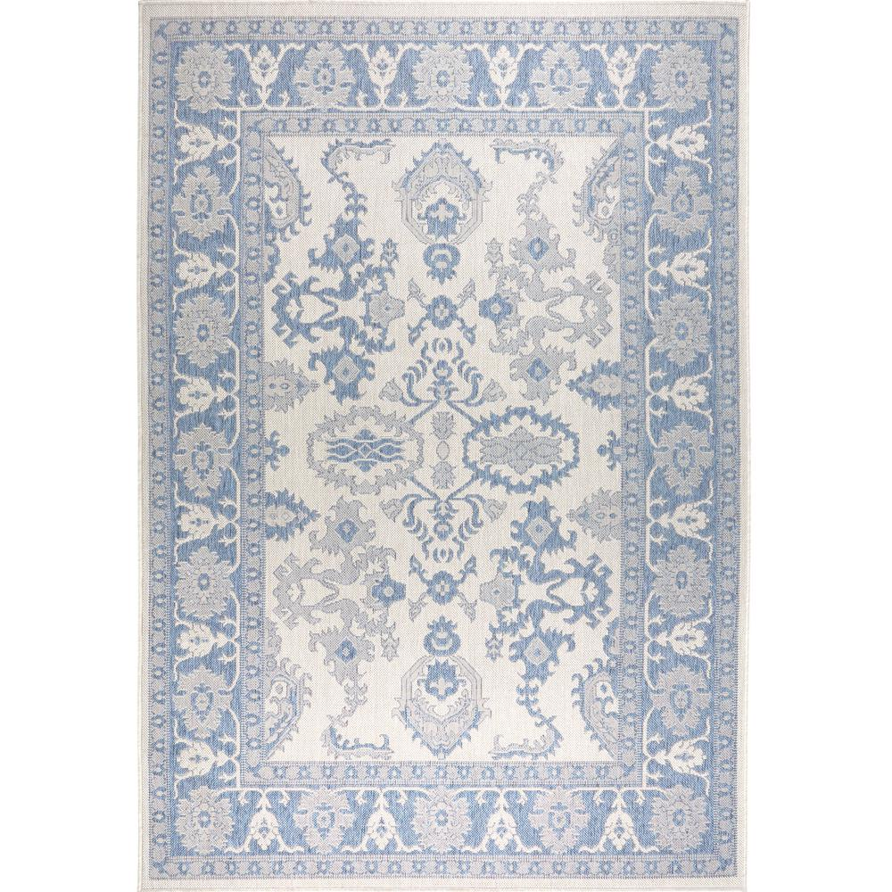 Nicole Miller Patio Country Gray Blue 5 Ft 2 In X 7 Indoor Outdoor Area Rug 2531 705 The Home Depot