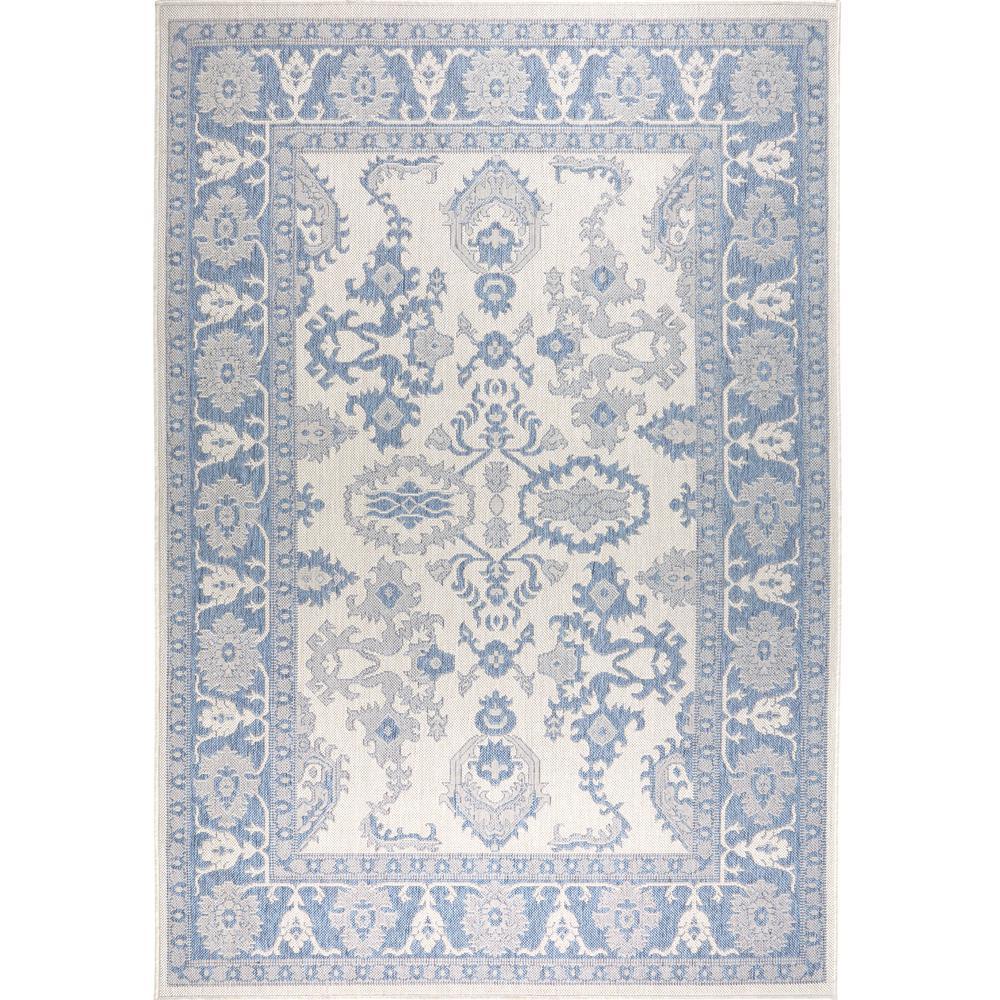 Patio Country Gray/Blue 7 ft. 9 in. x 10 ft. 2 in. Indoor/Outdoor Area Rug