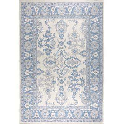 Patio Country Gray/Blue 7 ft. 9 in. x 10 ft. 2 in. Indoor/Outdoor Area Rug