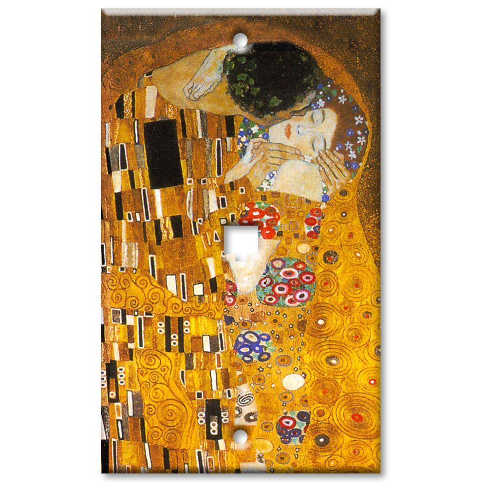 Art Plates Klimt The Kiss Cat5 Wall Plate