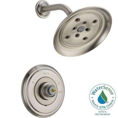 Cassidy 14 Series 1-Handle Shower Faucet Trim Kit Only in Stainless (Valve and Handles Not Included)