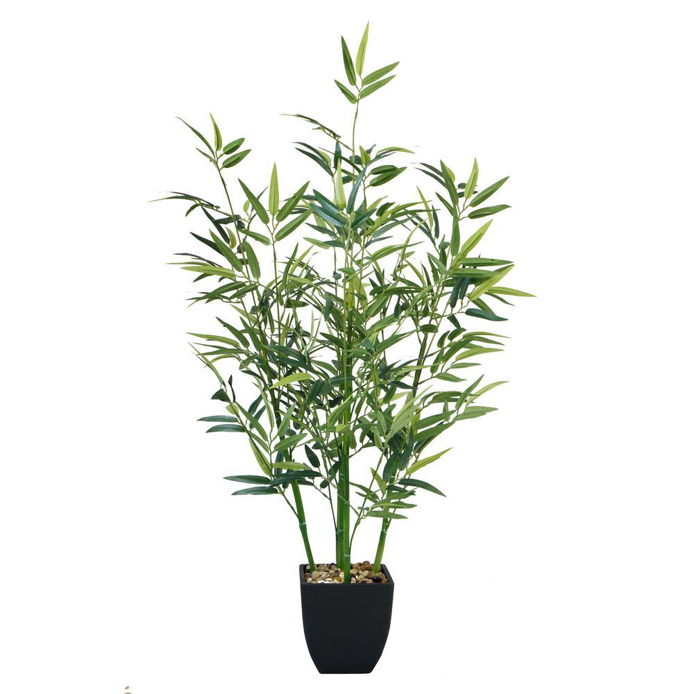 32 in. Tabletop mini bamboo plant In Planter