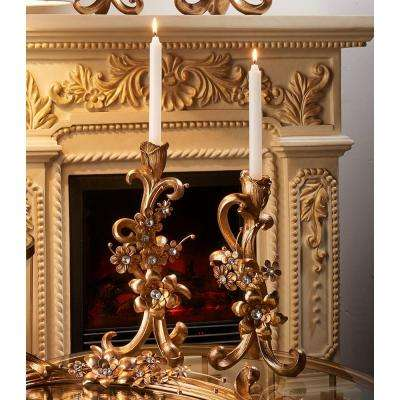 12 in. and 14 in. Athena Bronze Candlesticks (Set of 2)