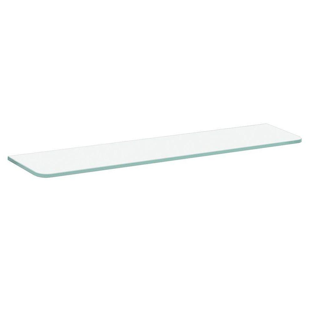 Dolle 23-1/2 in. x 4-3/4 in. x 5/16 in. Standard Glass Line Shelf in Frosted