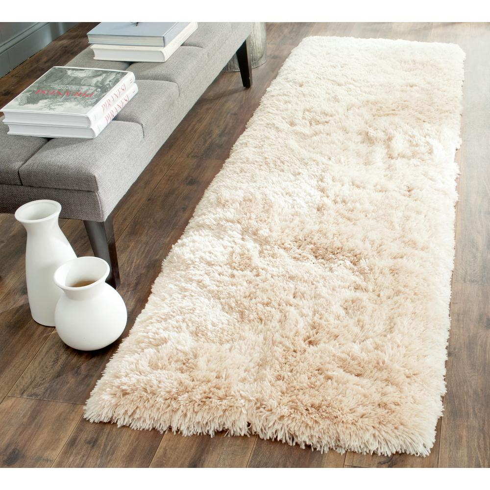 Arctic Shag Beige 2 ft. 3 in. x 8 ft. Runner