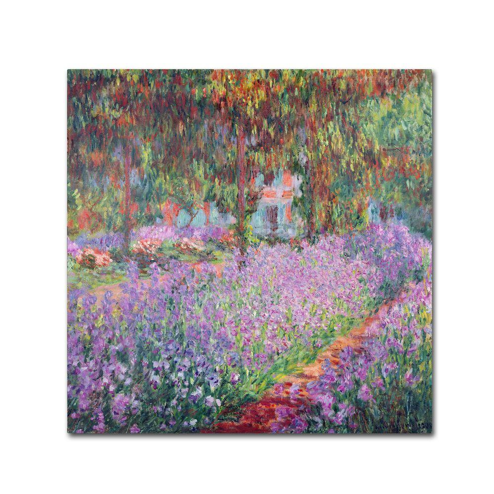 18 in. x 18 in. The Artists Garden at Giverny Canvas