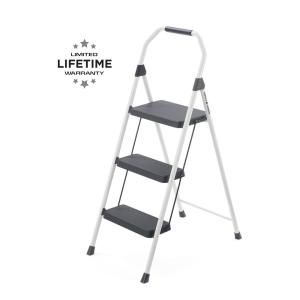 Super Gorilla Ladders 3 Step Compact Steel Step Stool With 225 Lb Load Capacity Type Ii Duty Rating Gls 3Cs The Home Depot Customarchery Wood Chair Design Ideas Customarcherynet