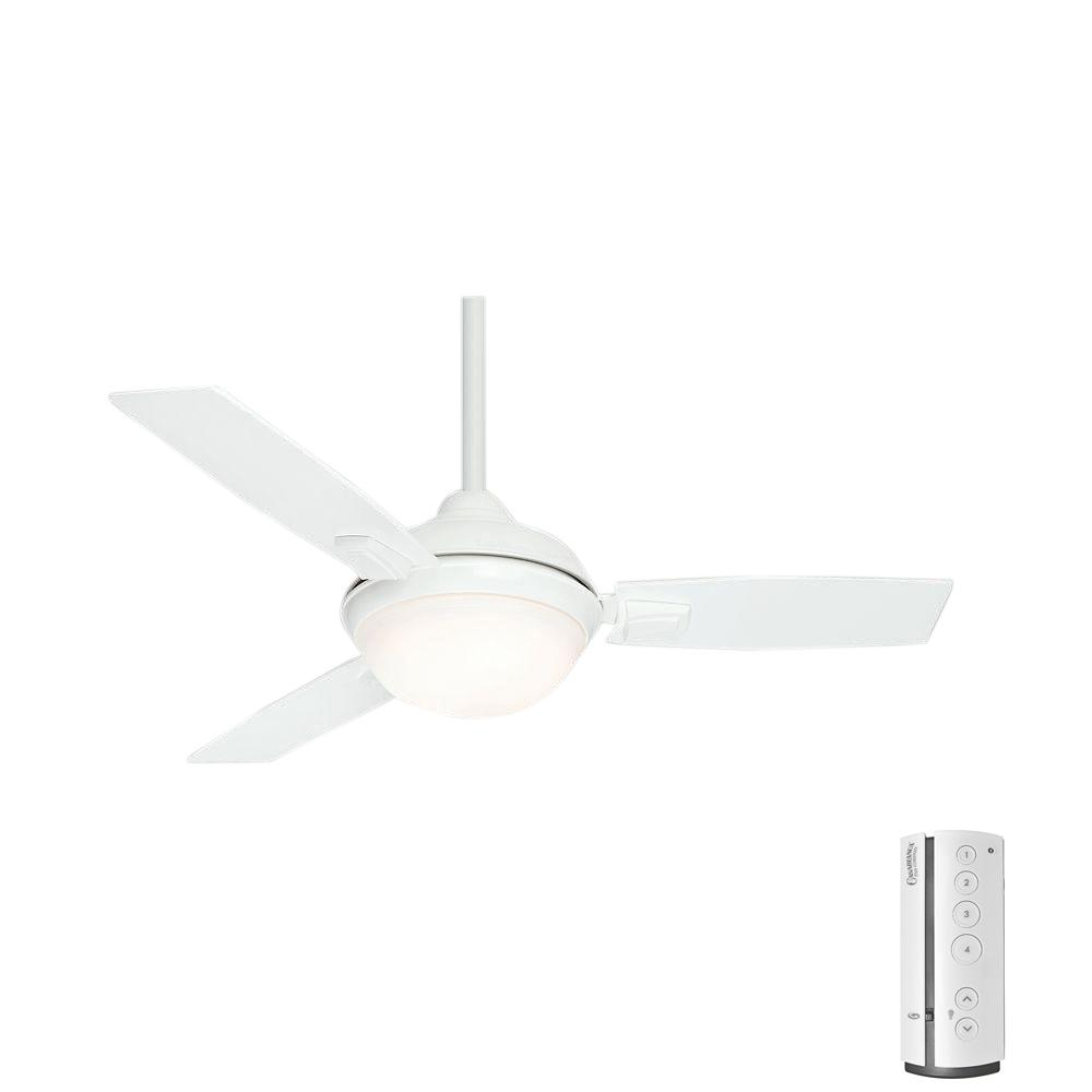 LED Indoor/Outdoor Fresh White Ceiling Fan With Remote 59153   The Home  Depot