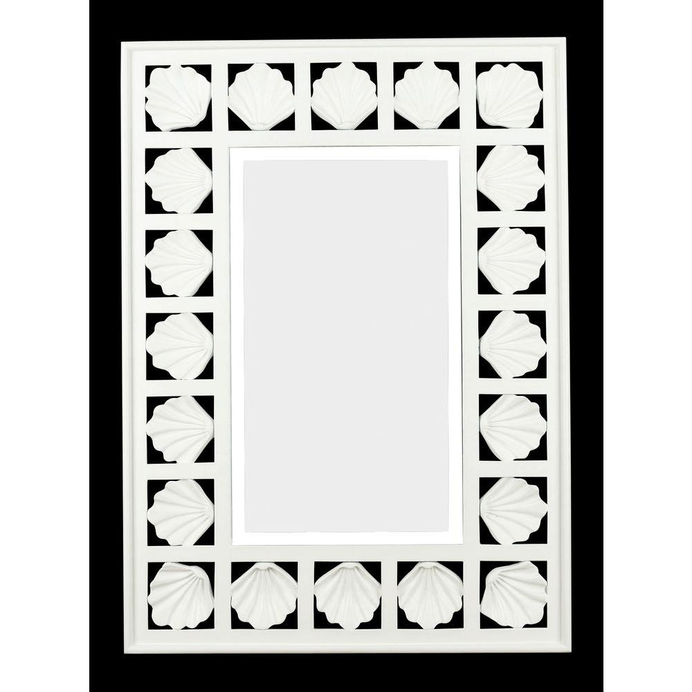 Home Decorators Collection Sea Breeze 32 in. x 23 in. Polyurethane Framed Mirror