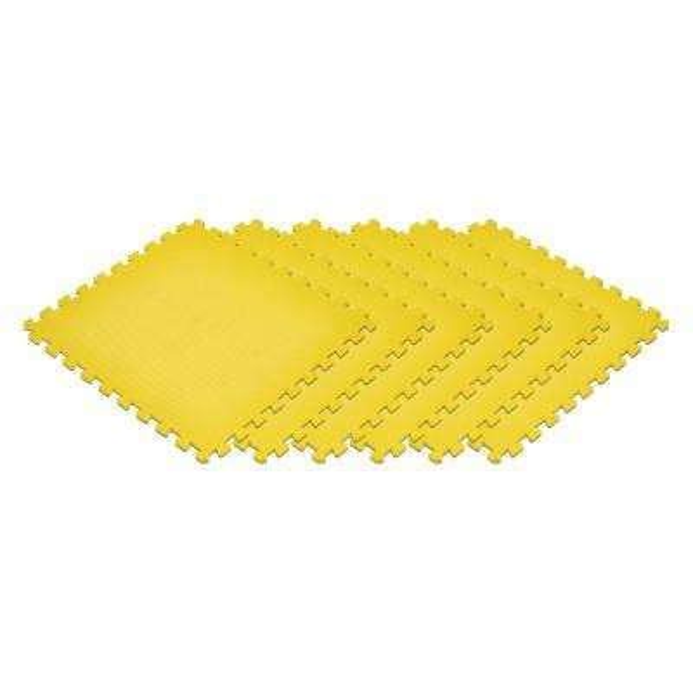 Yellow 24 in. x 24 in. EVA Foam Non-Toxic Solid Color Interlocking Tiles (120 sq. ft. - 30 tiles)