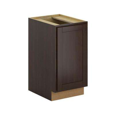Princeton Assembled 18x34.5x24 in. Pull Out Trash Can Base Kitchen Cabinet in Java
