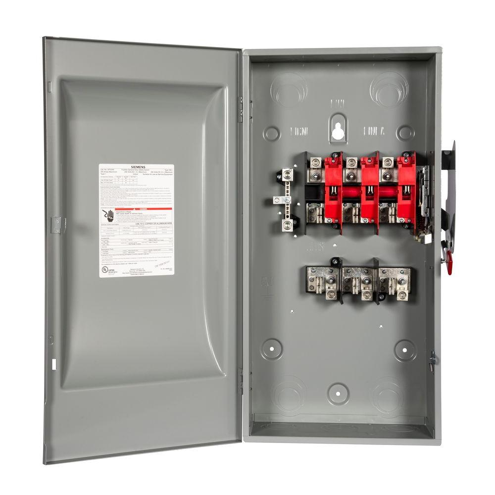 General Duty 200 Amp 240-Volt Three-Pole Indoor Fusible Safety Switch with