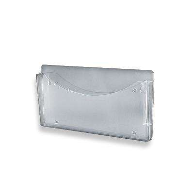 13.5 in. W x 7 in. H Clear Single Wall File with Pen Pocket (2-Pack)