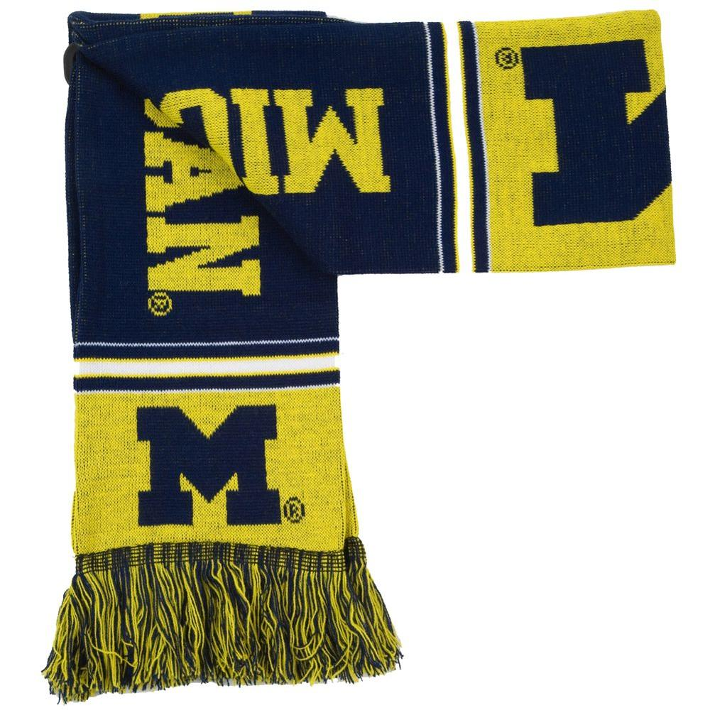 Forever Collectibles NCAA Licensed Michigan Team Scarf-DISCONTINUED