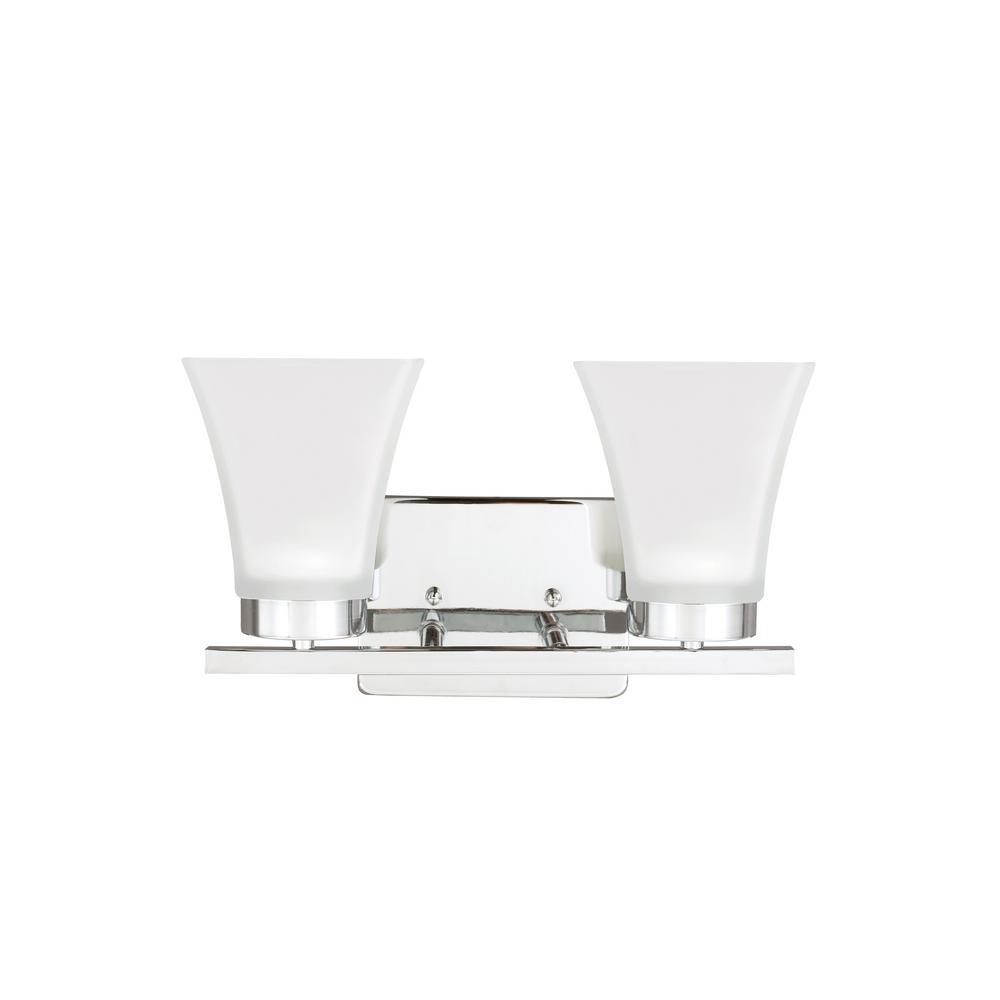 Bayfield 2-Light Chrome Bath Light with LED Bulbs