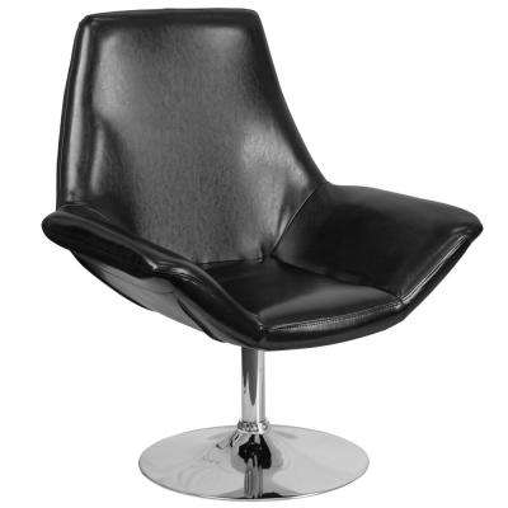 Hercules Sabrina Series Black Leather Reception Chair