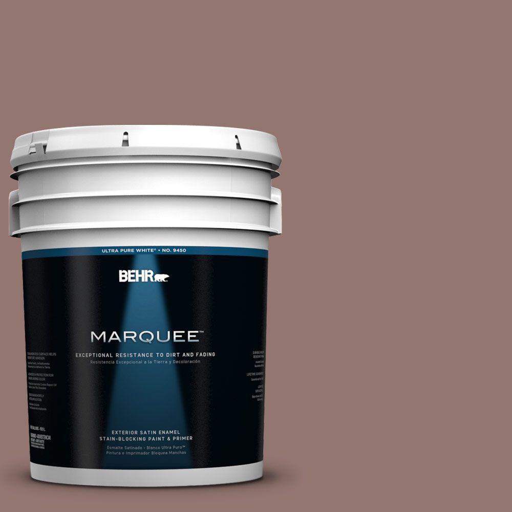 BEHR MARQUEE 5-gal. #710B-5 Milk Chocolate Satin Enamel Exterior Paint