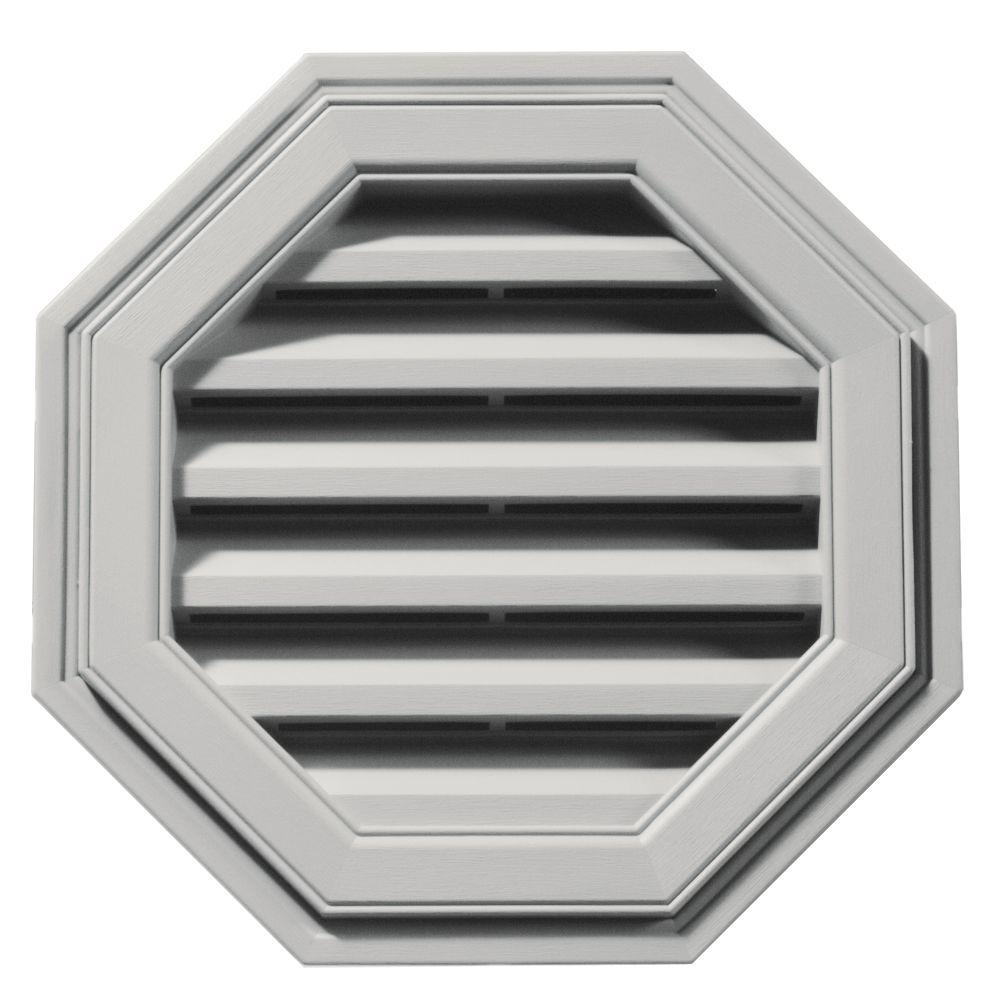 18 in. Octagon Gable Vent in Paintable