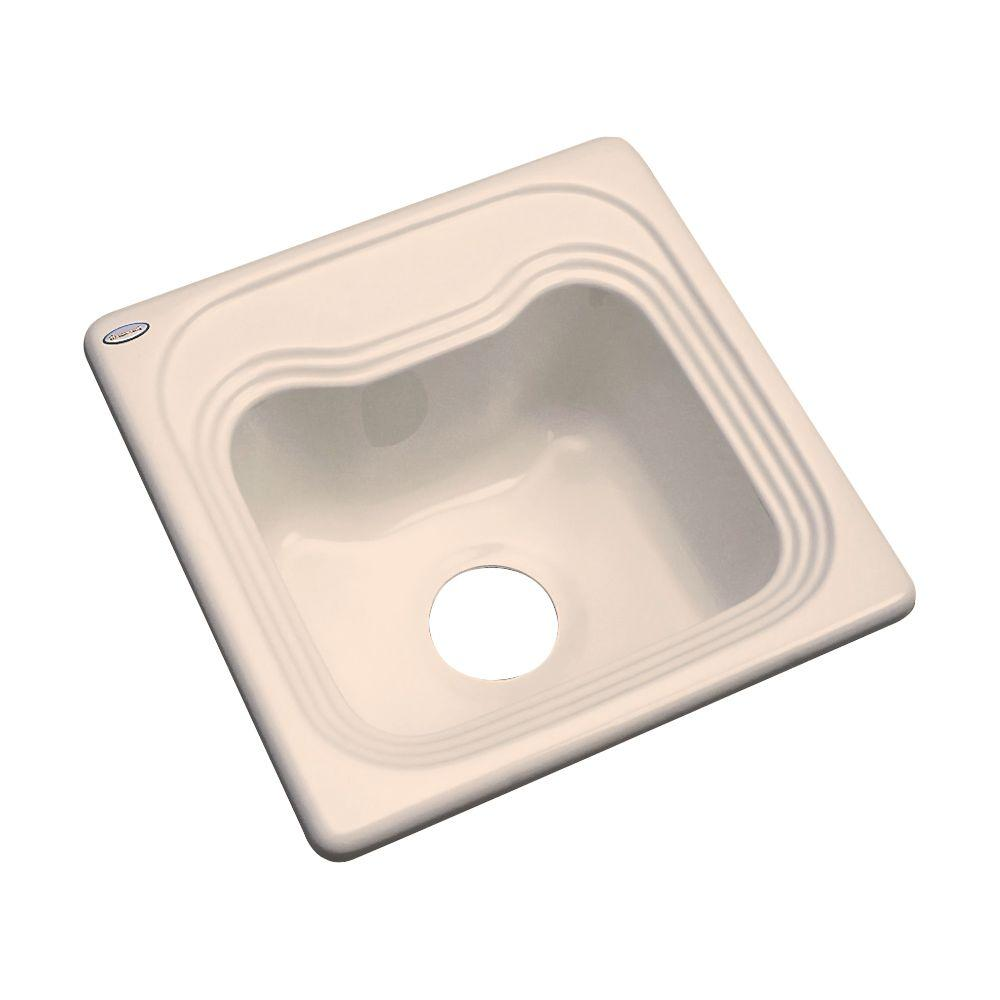 Thermocast Oxford Drop-In Acrylic 16 in. Single Bowl Bar Sink in Peach Bisque