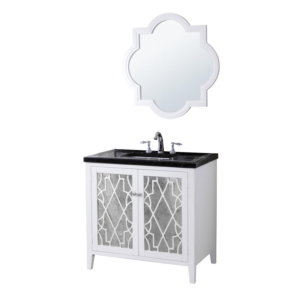 Crawford burke evelyn 35 in w x 21 in d vanity in - Crawford and burke bathroom vanity ...
