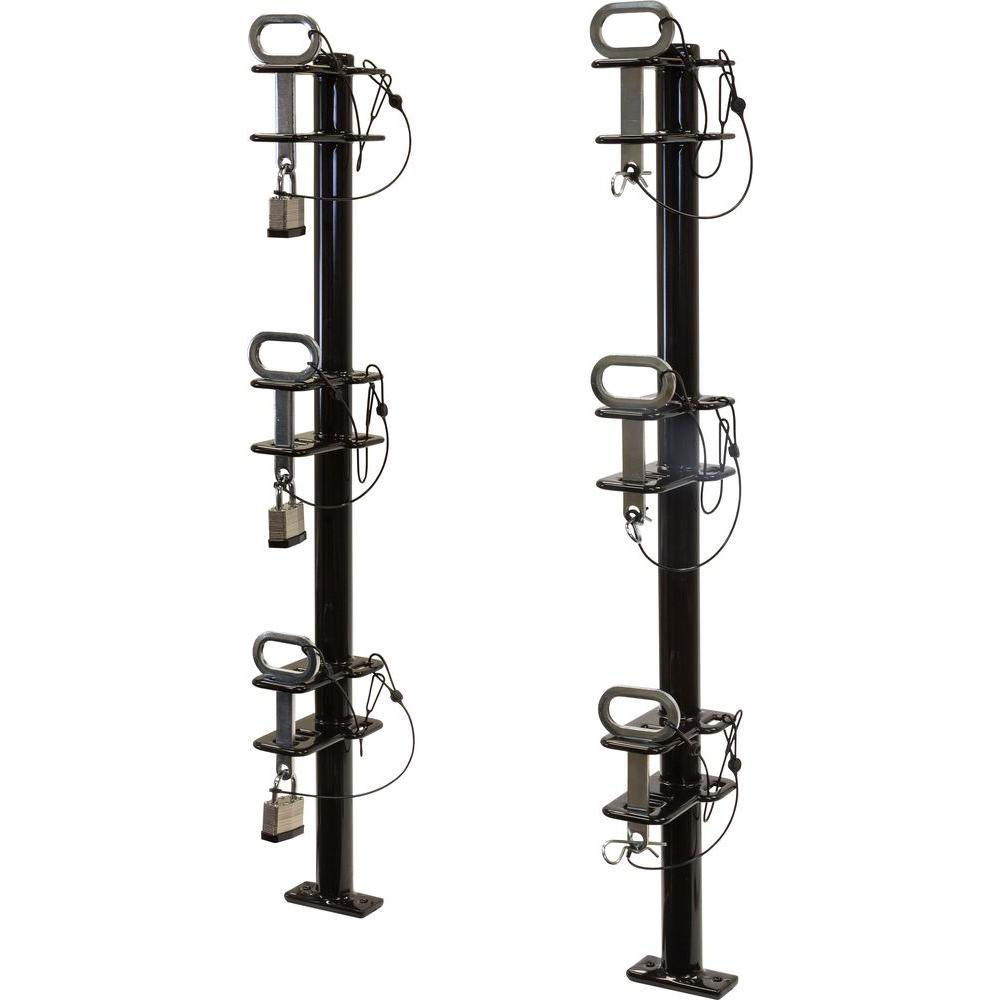 Channel Style 3-Trimmer Lockable Rack