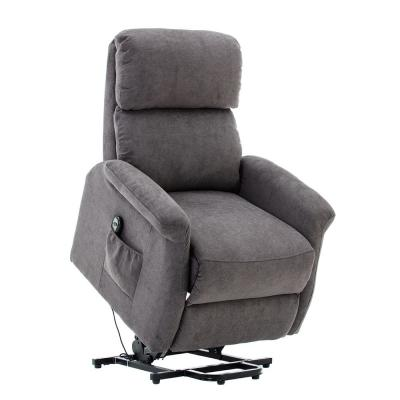 Gray Powel Lift Recliner Chair with Remote Control for Elderly,Heavy Duty and Soft Fabric Sofa for Living Room